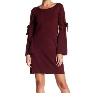Max Studio Tie Sleeve Sweater Knit Dress